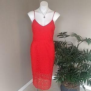 Strappy Orange Lace Dress